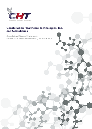 Constellation Healthcare Techno Inc annual report 2015