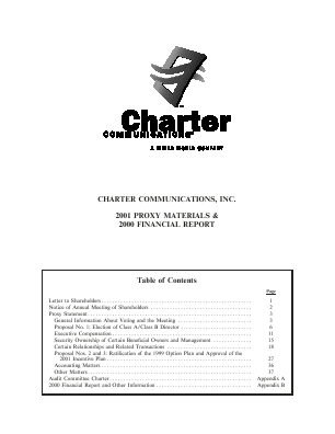Charter Communications, Inc. annual report 2000