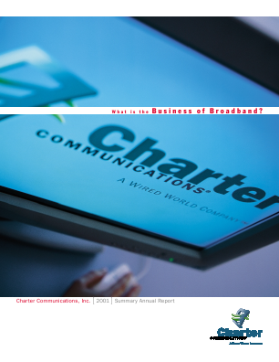 Charter Communications, Inc. annual report 2001