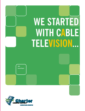 Charter Communications, Inc. annual report 2003