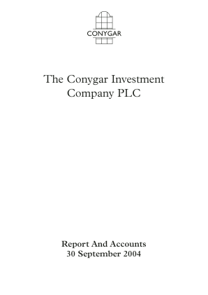 Conygar Investment Co(The) annual report 2004