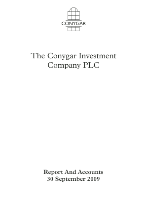 Conygar Investment Co(The) annual report 2009