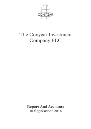 Conygar Investment Co(The) annual report 2016
