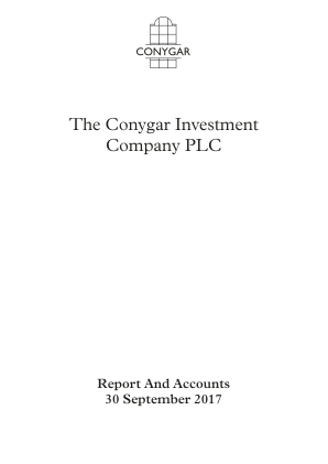 Conygar Investment Co(The) annual report 2017