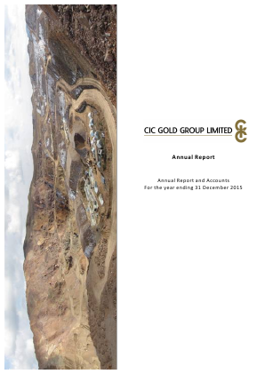 CIC Gold Group Ltd annual report 2015
