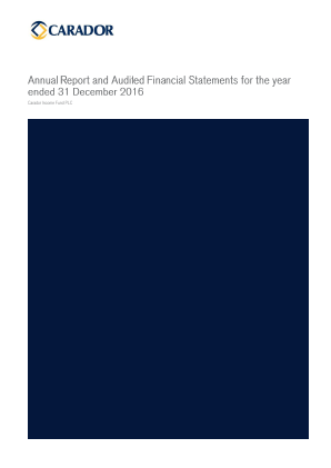 Carador Income Fund Plc annual report 2016