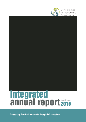 Consolidated Infrastructure Group annual report 2016