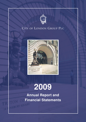 City of London Group annual report 2009