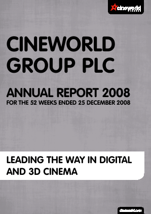 Cineworld Group annual report 2008