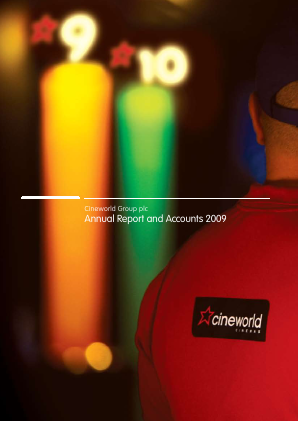 Cineworld Group annual report 2009