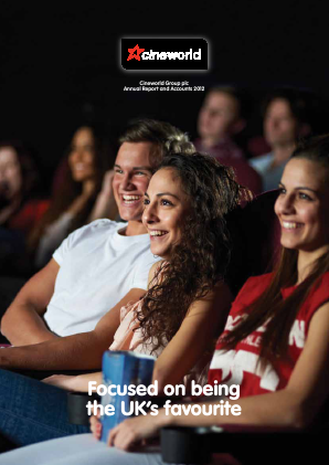 Cineworld Group annual report 2012