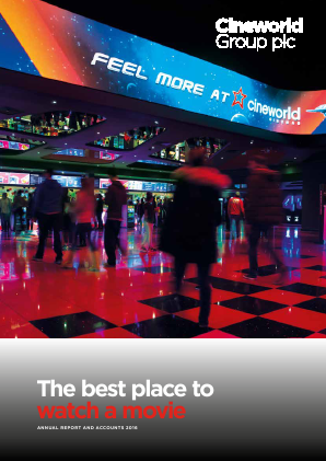 Cineworld Group annual report 2016