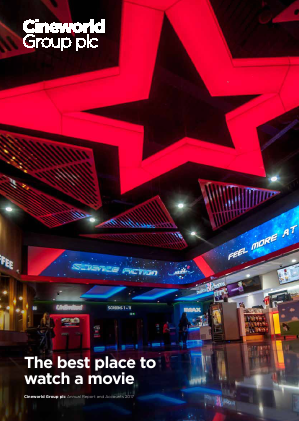 Cineworld Group annual report 2017