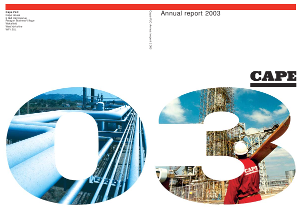 Cape Plc annual report 2003