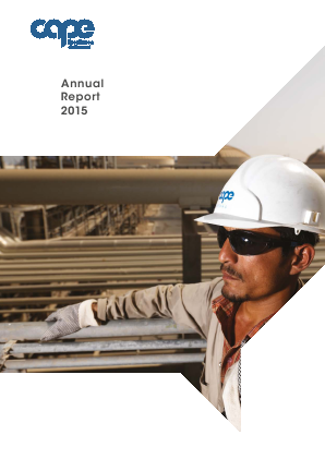 Cape Plc annual report 2015