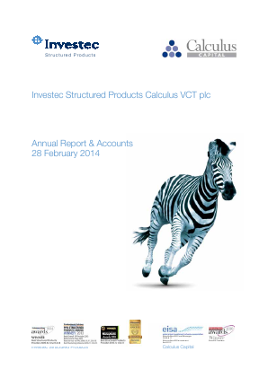 Calculus VCT Plc annual report 2014