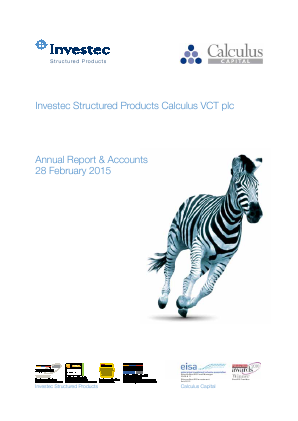 Calculus VCT Plc annual report 2015