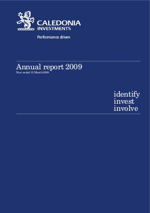 Caledonia Investments annual report 2009