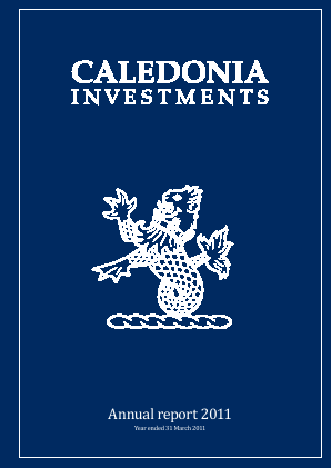 Caledonia Investments annual report 2011