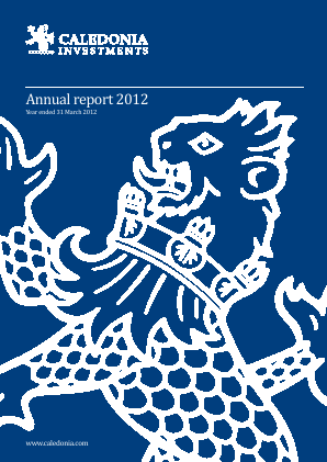 Caledonia Investments annual report 2012