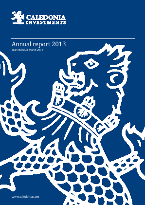 Caledonia Investments annual report 2013