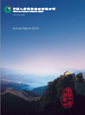 China Life Insurance annual report 2013