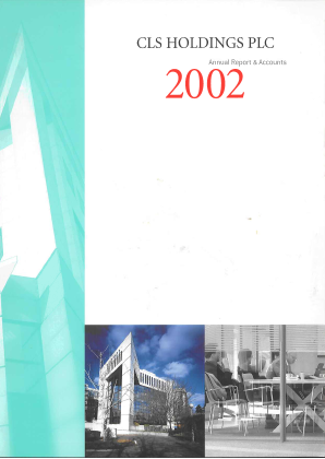 CLS Holdings annual report 2002