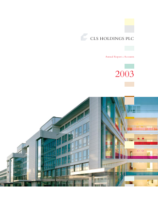 CLS Holdings annual report 2003