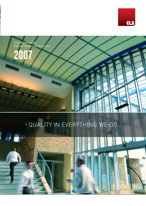 CLS Holdings annual report 2007