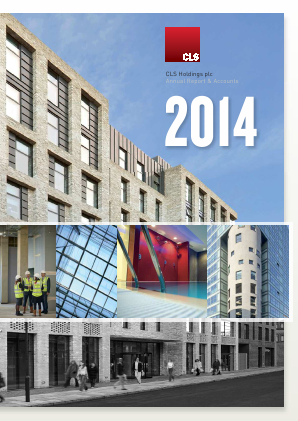 CLS Holdings annual report 2014