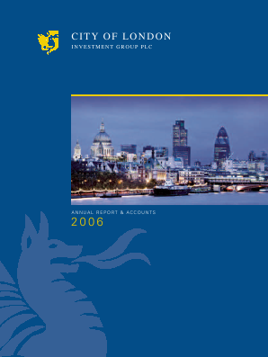 City Of London Investment Group annual report 2006