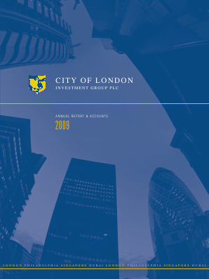 City Of London Investment Group annual report 2009