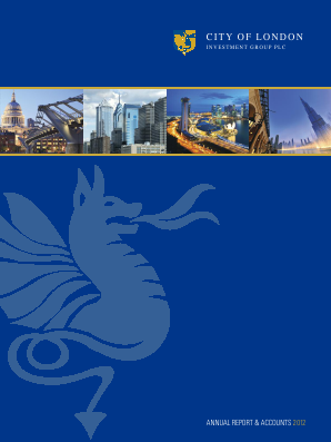 City Of London Investment Group annual report 2012