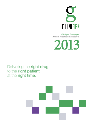 Clinigen Group Plc annual report 2013