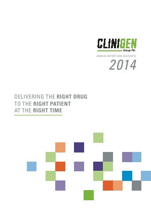 Clinigen Group Plc annual report 2014