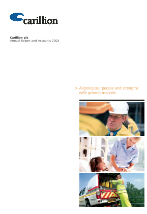 Carillion Plc annual report 2003