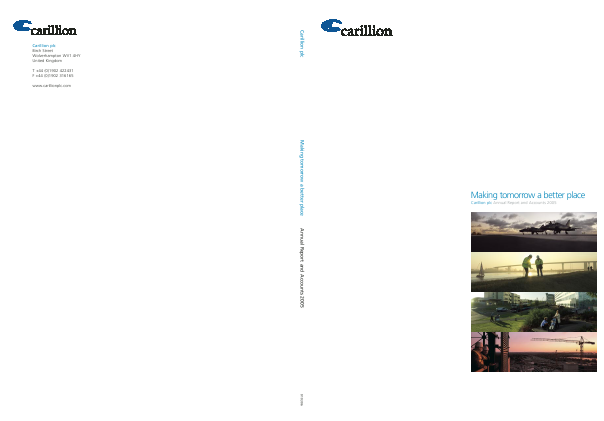 Carillion Plc annual report 2005