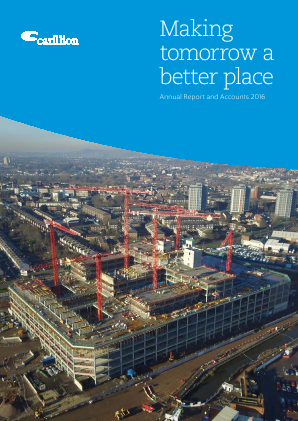 Carillion Plc annual report 2016