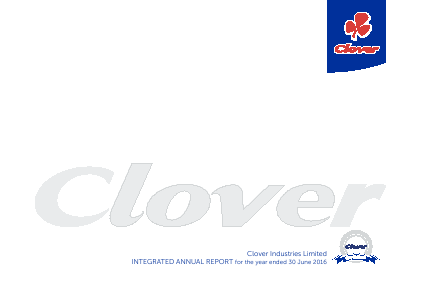 Clover Industries annual report 2016