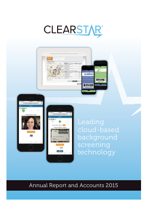 Clearstar Inc annual report 2015