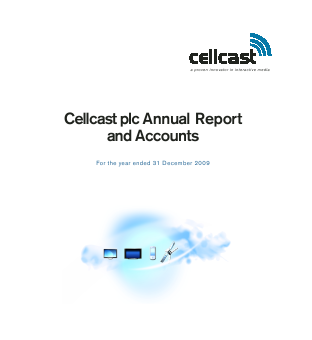 Cellcast Group annual report 2009