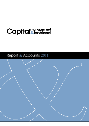 Capital Management & Investment annual report 2011