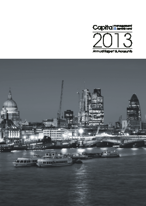 Capital Management & Investment annual report 2013