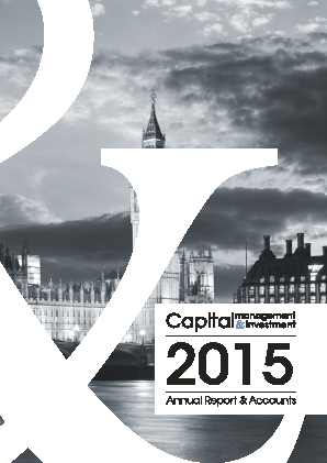 Capital Management & Investment annual report 2015