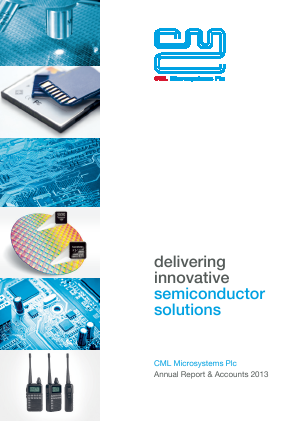 CML Microsystems annual report 2013