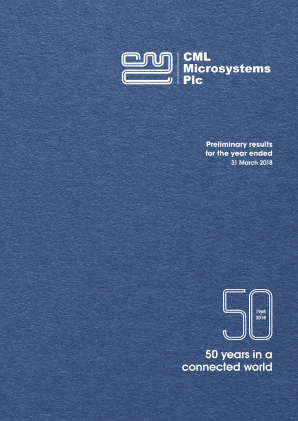 CML Microsystems annual report 2018
