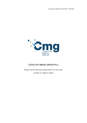 Catalyst Media Group annual report 2008