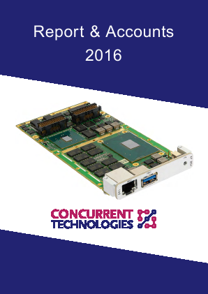 Concurrent Technologies annual report 2016