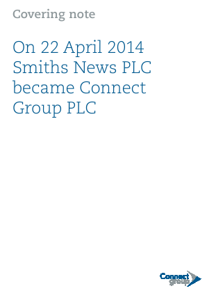 Connect Group Plc annual report 2013
