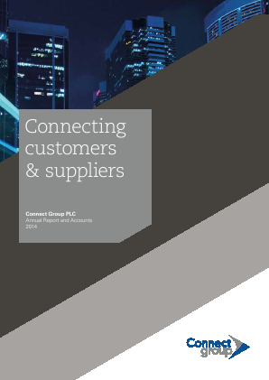 Connect Group Plc annual report 2014